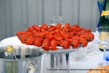 Crayfish parties happen in August and millions of these are eaten with gumption and tiny forks.