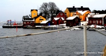 The approach to Sandhamn