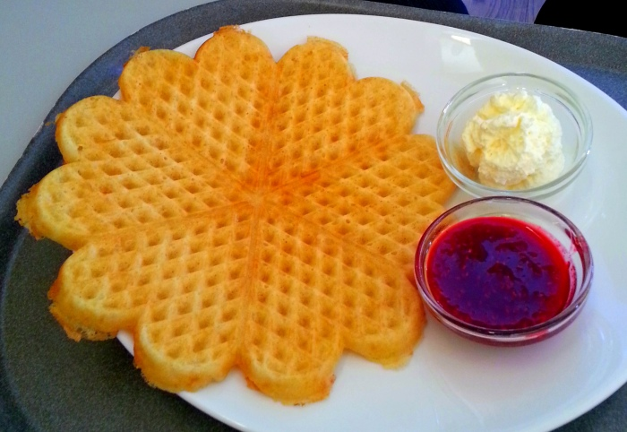 It is, apparently, a tradition to have waffles at the palace cafe. So C did. I had a bite and yes, it was yummy.