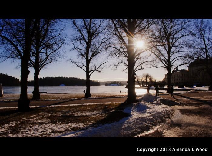 Winter sun at Drottningholm Palace