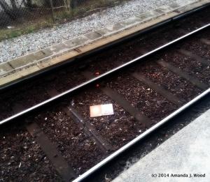 Lost book on train tracks
