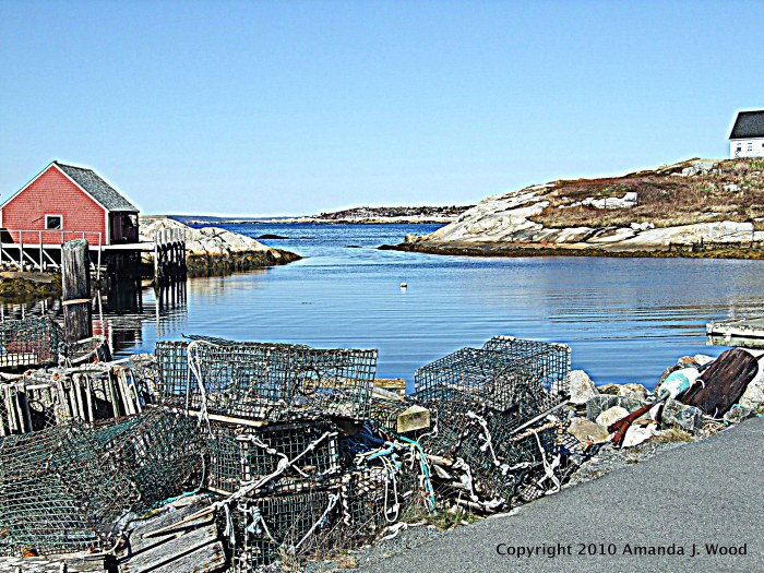 Classic lobster traps at Peggy's Cove