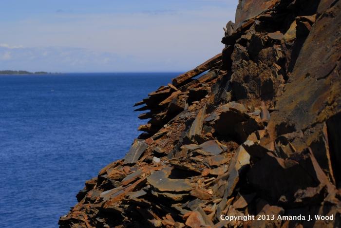 Amazing shale cliffs