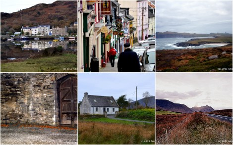 Clifden, County Galway, Dingle, County Kerry plus various places nearby